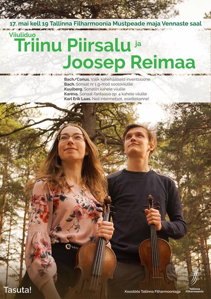 Viiuliduo Triinu Piirsalu ja Joosep Reimaa