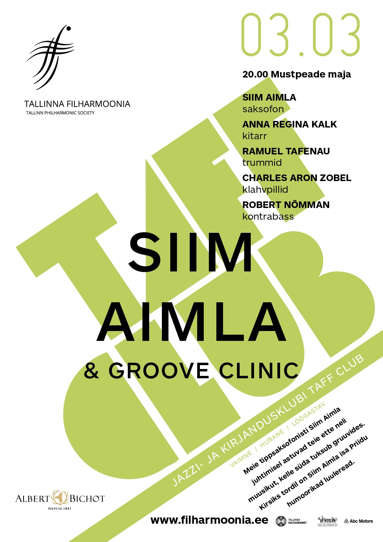TAFF CLUB. SIIM AIMLA & GROOVE CLINIC