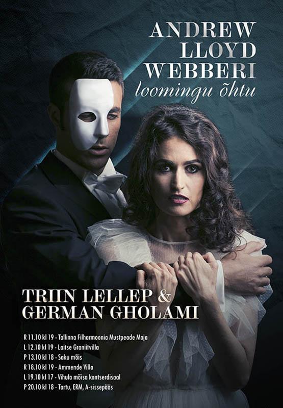"""Triin Lellep ja German Gholami """"Andrew Lloyd Webberi loomingu õhtu"""""""