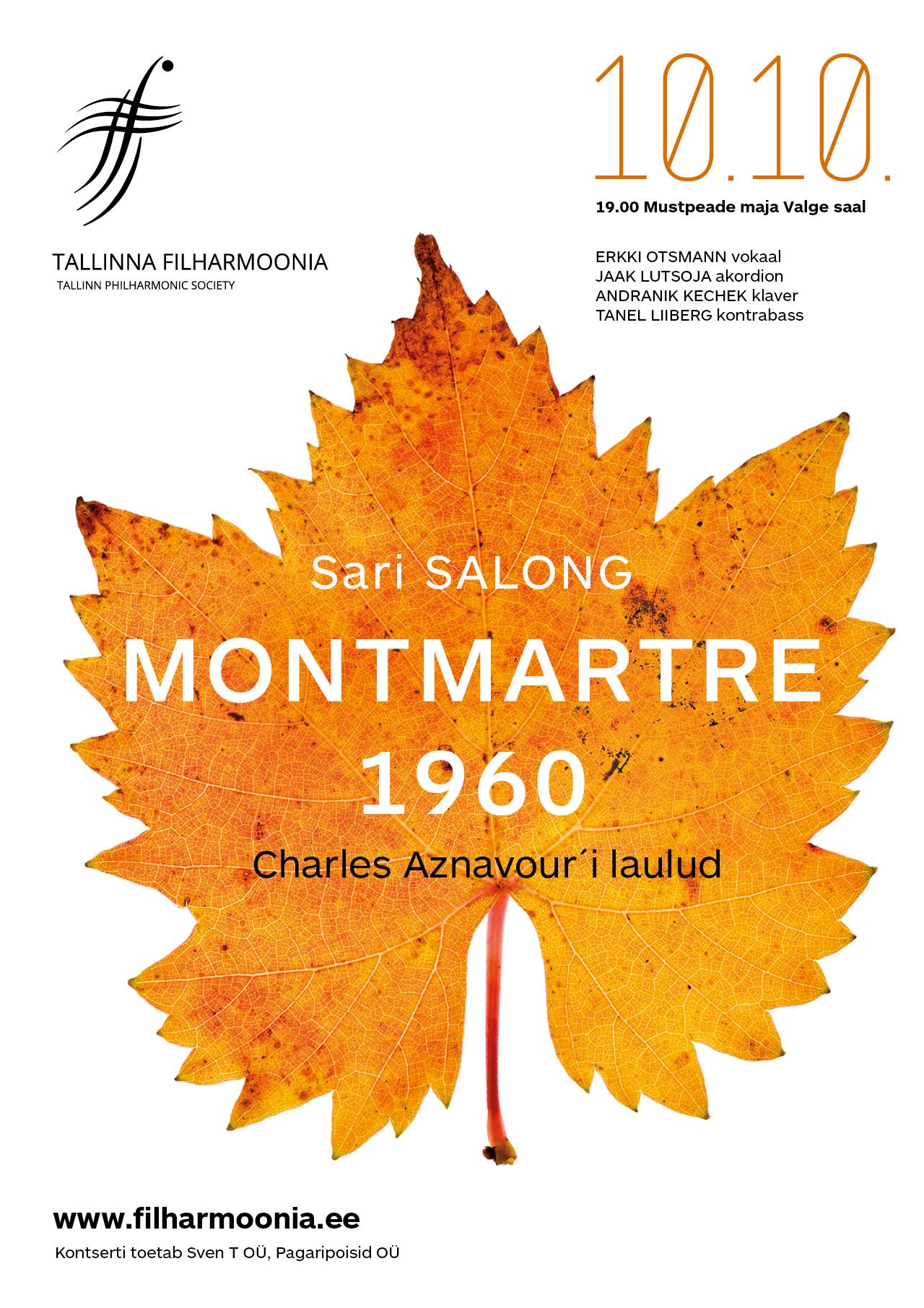 Sari SALONG. MONTMARTRE 1960