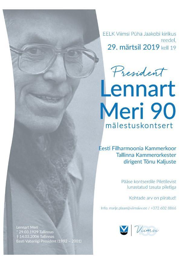 ''Lennart Meri 90'' mälestuskontsert