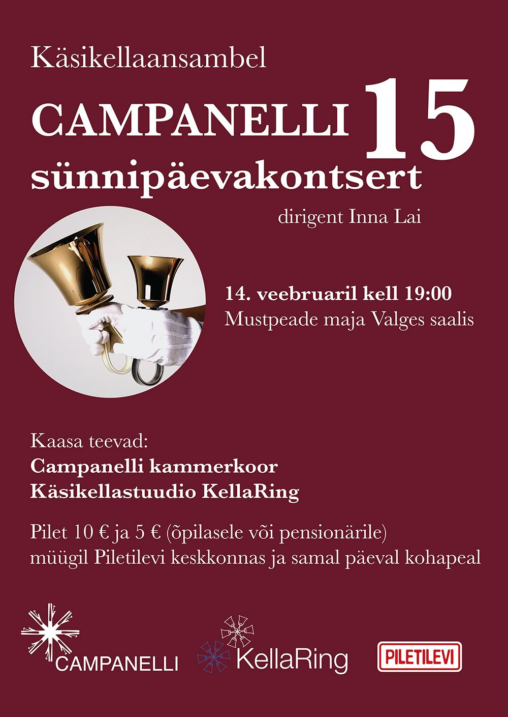 Käsikellaansambel Campanelli 15. sünnipäevakontsert
